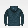 G-Star RAW® Monthon Hooded Zip Sweater Medium blue flat back