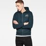G-Star RAW® Monthon Hooded Zip Sweater Medium blue model front