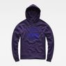 G-Star RAW® Stor Hooded Sweater Purple flat front