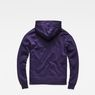 G-Star RAW® Stor Hooded Sweater Purple flat back