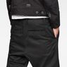 G-Star RAW® Bronson Pleated Cuffed Chino Black model back zoom