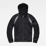 G-Star RAW® Rackam Hooded Zip Sweater Black model front