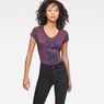 G-Star RAW® Thilea Slim V-Neck T-Shirt Purple model front