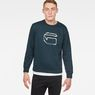 G-Star RAW® Monthon Sweater Medium blue model front