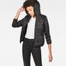 G-Star RAW® Strett Utility Hooded Padded Bomber Black model front