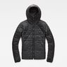 G-Star RAW® Strett Utility Hooded Padded Bomber Black flat front