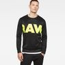 G-Star RAW® Vilsi Stalt Deconstructed Slim Sweater Black model front