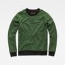 G-Star RAW® Stalt Deconstructed Sweater Green flat front