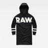 G-Star RAW® Scolla Oversized Hooded Sweater Dress Black flat front