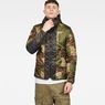 G-Star RAW® Edla Padded Hooded Overshirt Green model front