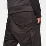 G-Star RAW® Motac-X Cargo 1/2-Length Shorts Black model back zoom