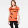 G-Star RAW® Flemster Straight T-Shirt Orange model front