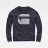 G-Star RAW® Oluva Oversized Sweater Dark blue flat front