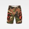 G-Star RAW® Rovic Mix Loose Shorts Green flat front