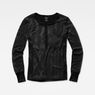 G-Star RAW® Zalow Straight Granddad T-Shirt Black model front