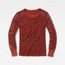 G-Star RAW® Zalow Straight Granddad T-Shirt Red model side