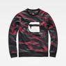G-Star RAW® Zeabel MC Stalt Deconstructed Sweater Black flat front