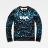 G-Star RAW® Meil WS Stalt Deconstructed Sweater Dunkelblau model front