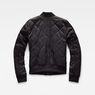 G-Star RAW® Deline Quilted Padded Slim Bomber Black flat back