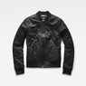 G-Star RAW® Deline Quilted Padded Slim Bomber Black flat front