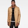 G-Star RAW® Garber Padded Trench Brown model front