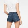 G-Star RAW® Arc mid waist Ripped Short Medium blue model