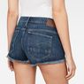 G-Star RAW® Arc mid waist Ripped Short Medium blue front flat