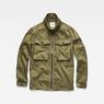 G-Star RAW® Type C Zip Utility Overshirt Green flat front