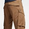 G-Star RAW® Rovic Zip 3D Tapered Pants Brown model back zoom