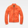 G-Star RAW® Deline Quilted Padded Slim Bomber Orange flat front