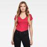 G-Star RAW® Eyben Slim V-Neck T-Shirt Pink model front