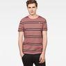 G-Star RAW® Makauri Stripe-5 T-Shirt Pink model front
