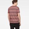 G-Star RAW® Makauri Stripe-5 T-Shirt Pink model back