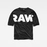 G-Star RAW® Glasy Loose 3/4-Sleeve T-Shirt Black flat front