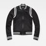 G-Star RAW® Deline Slim Bomber Black flat front