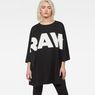 G-Star RAW® Glasy Loose 3/4-Sleeve T-Shirt Black model front