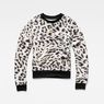 G-Star RAW® Leopard Cropped Sweater White flat front