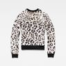 G-Star RAW® Leopard Cropped Sweater White flat back