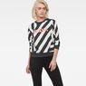 G-Star RAW® Dzzc Cropped Sweater Black model front