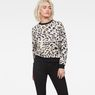 G-Star RAW® Leopard Cropped Sweater White model front