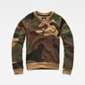 G-Star RAW® Oversized  Dutch Camo Cropped Sweater Green flat front