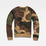 G-Star RAW® Oversized  Dutch Camo Cropped Sweater Green flat back