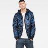 G-Star RAW® Strett padded hooded overshirt Dark blue model front