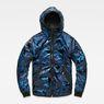 G-Star RAW® Strett padded hooded overshirt Dark blue flat front