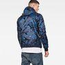 G-Star RAW® Strett padded hooded overshirt Dark blue model back