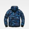 G-Star RAW® Strett padded hooded overshirt Dark blue flat back