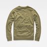 G-Star RAW® Core Hybrid Archive Sweater Green flat back
