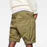 G-Star RAW® Tendric Deconstructed Loose 1/2-Length Shorts Green model back zoom