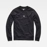 G-Star RAW® Obiter Stalt Deconstructed Sweater Black flat front
