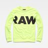 G-Star RAW® Vilsi Stalt Deconstructed Slim Sweater Yellow flat front